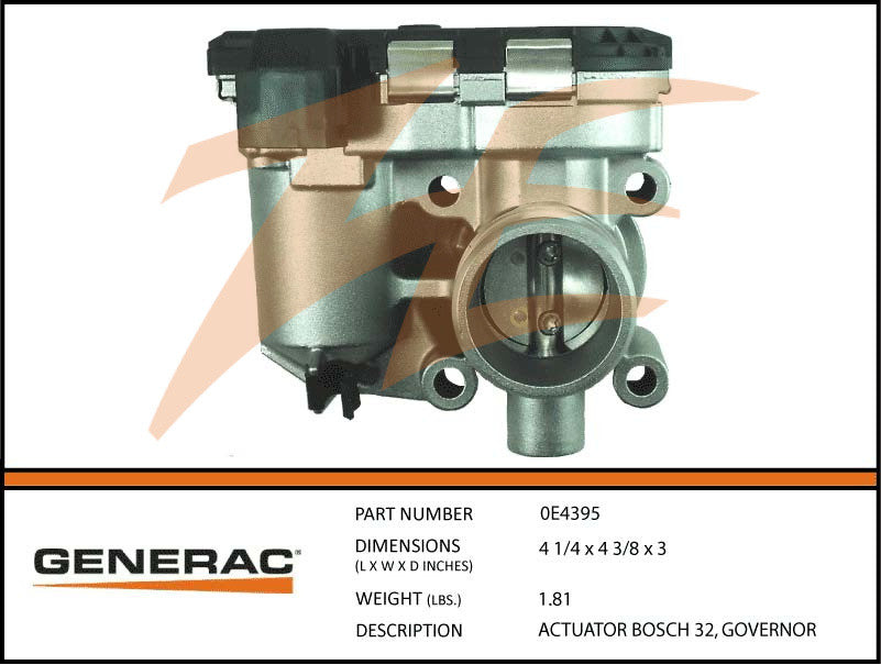 Generac 0E4395 Bosch Governor Actuator 32