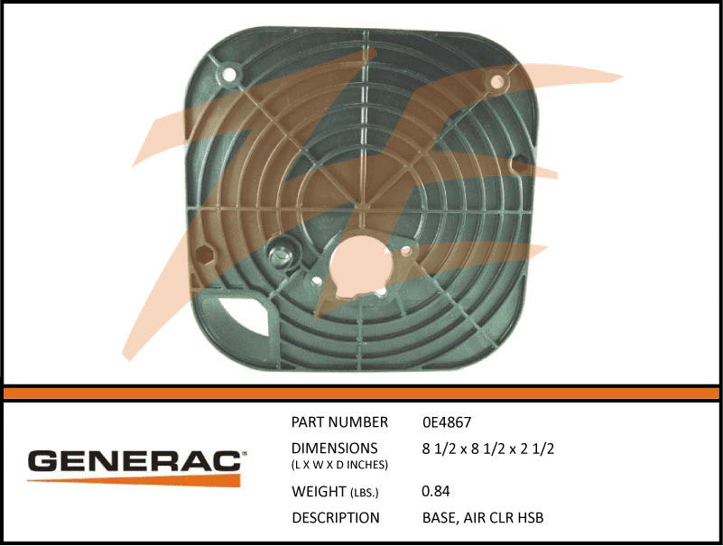 Generac 0E4867 Air Cleaner Base