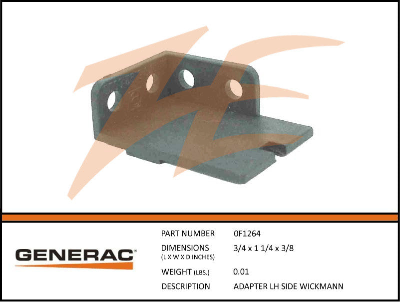 Generac 0F1264 Adapter Left Side Wickmann