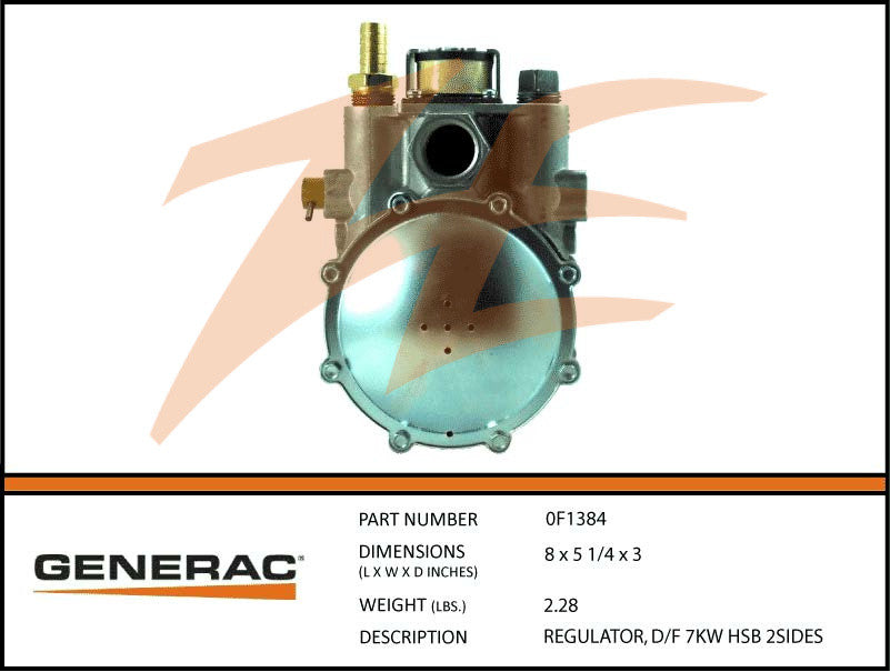 Generac 0F1384 Fuel Regulator Dual Fuel 7kW