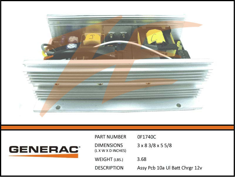 Generac 0F1740C PCB 10A 12V Battery Charger Assembly