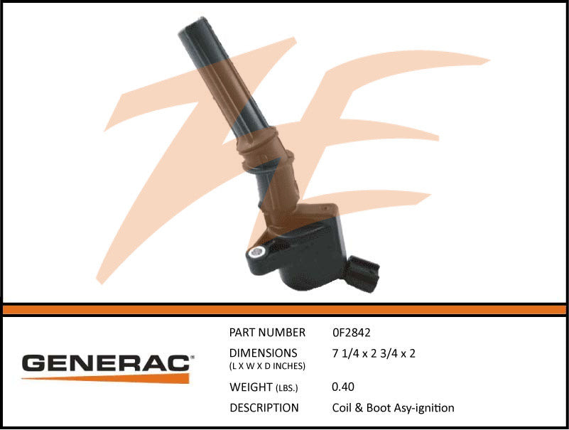 Generac 0F2842 Ignition Coil and Boot Assembly