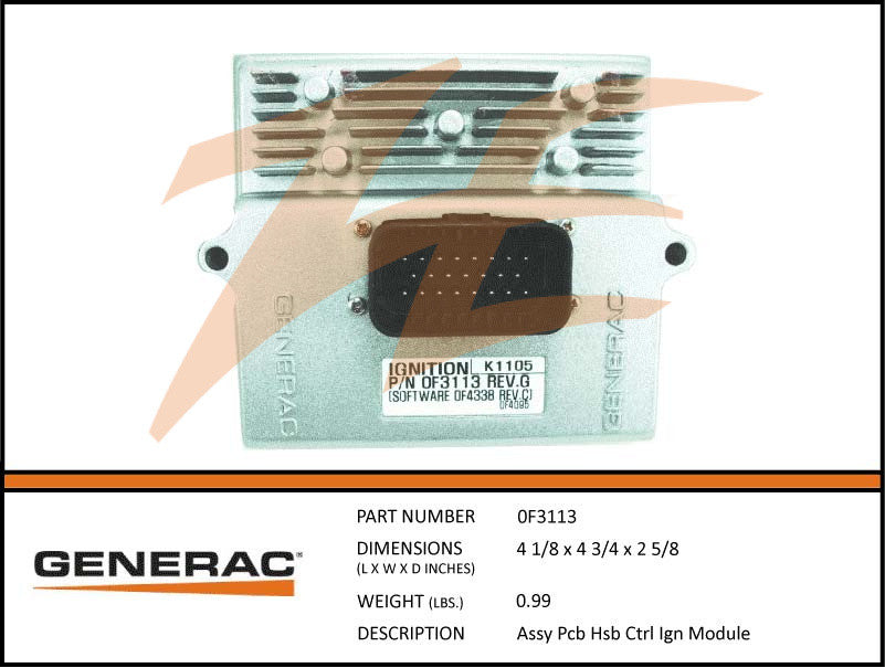 Generac 0F3113 PCB Ignition Control Module Assembly