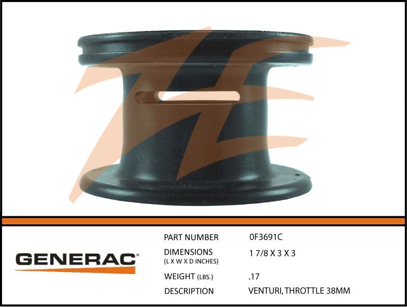 Generac 0F3691C Throttle Venturi 38MM