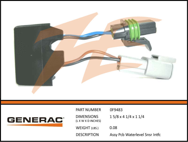 Generac 0F9483 PCB Water Level Sensor Interface Assembly