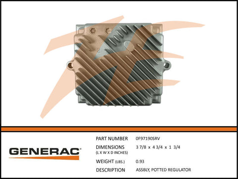 Generac 0F97190SRV Voltage Regulator