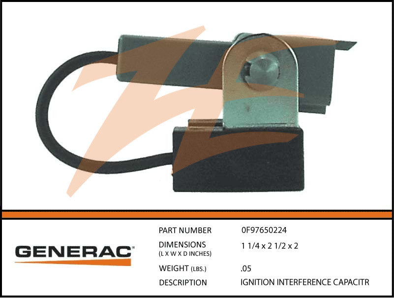 Generac 0F97650224 Ignition Interface Capacitor