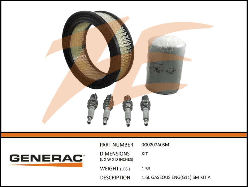Generac 5655/0G0207A0SM Liquid Cooled Maintenance Kit