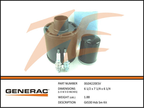 Generac 5663/0G04220ESV 10kW Air Cooled Maintenance Kit