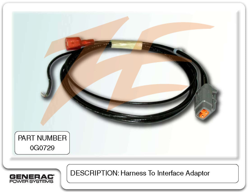 Generac 0G0729 Harness To Interface Adapter