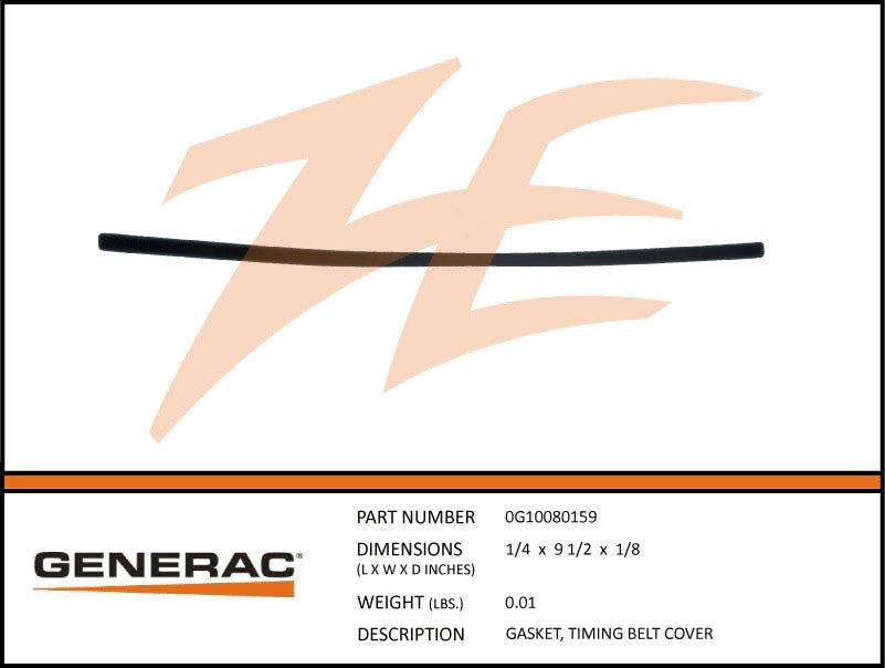 Generac 0G10080159 Timing Belt Cover Gasket