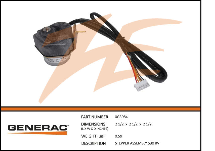 Generac 0G3984 Stepper Assembly 530 RV