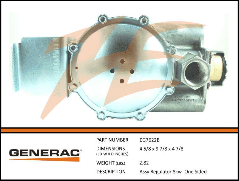 Generac 0G7622B Fuel Regulator Assembly 8kW
