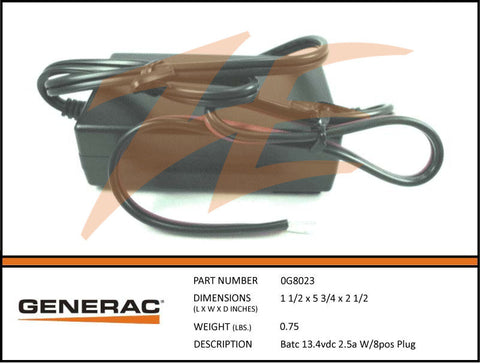Generac 0G8487/0G8023 Battery Charger