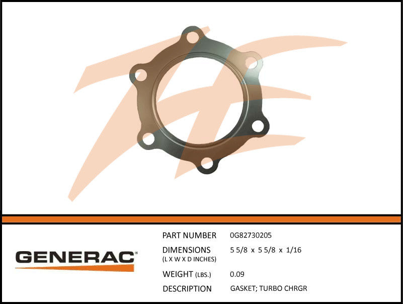 Generac 0G82730205 Turbo Charger Gasket