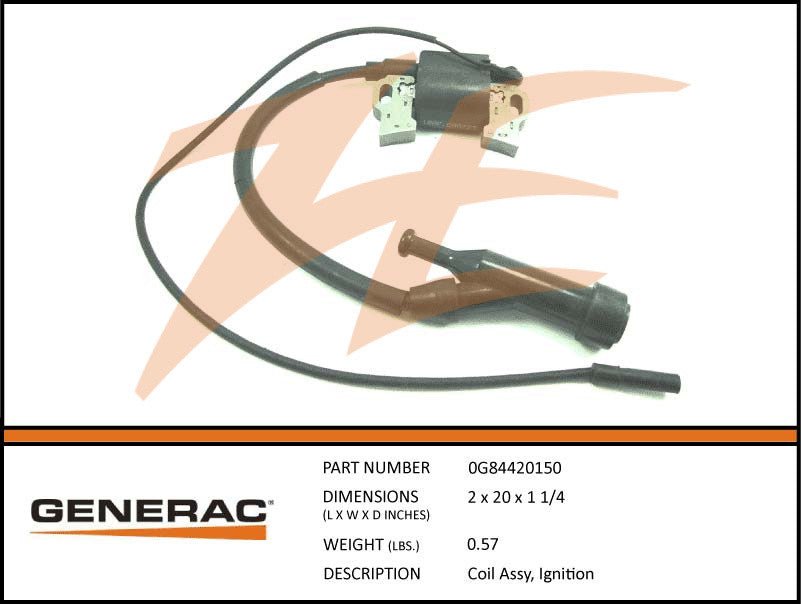 Generac 0G84420150 Ignition Coil Assembly