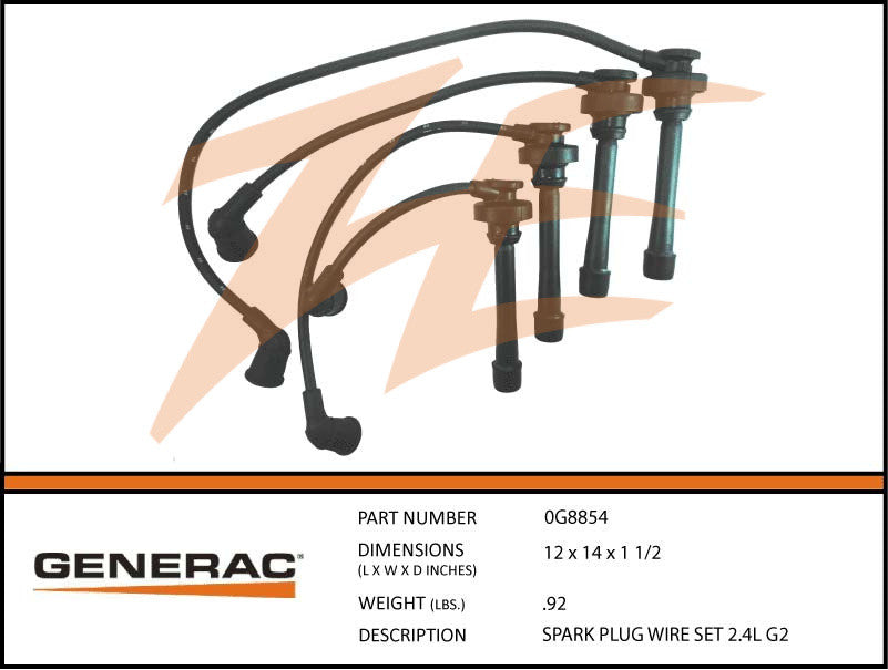 Generac 0G8854 Spark Plug Wire Set 2.4L – Ziller Electric