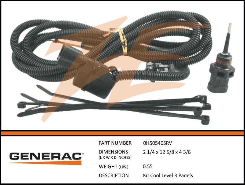 Generac 0H50540SRV Coolant Level Sensor Probe Upfit Kit R Panels