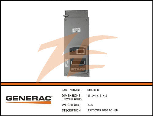 Generac 0H6680DSRV Nexus Controller w/ 'B' Conversion Kit