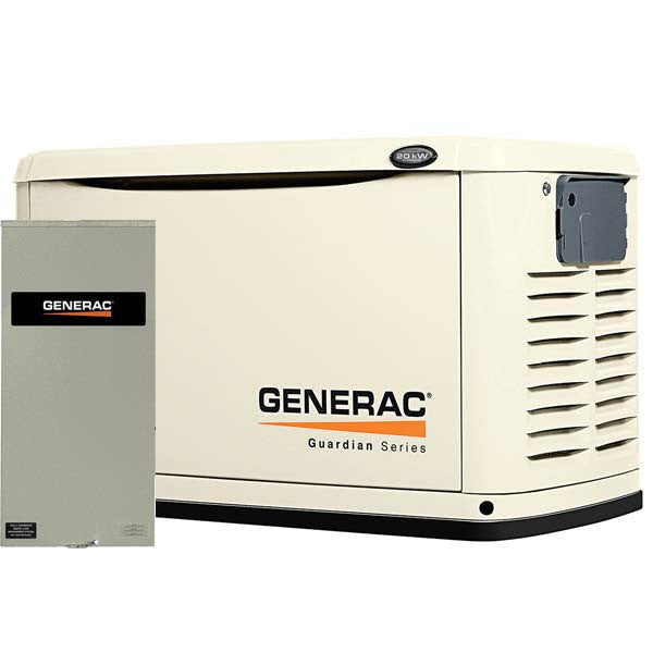 Generac 6729 20kW Steel Automatic Standby Generator with 200A Transfer Switch