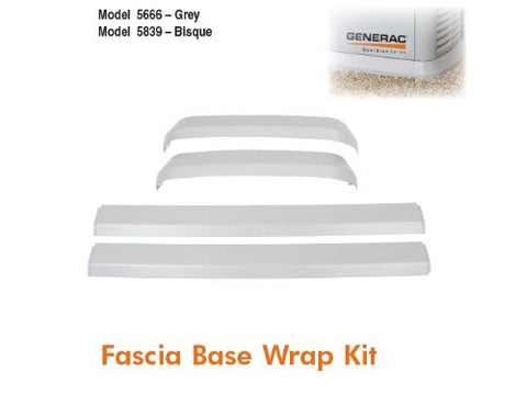 Generac 7027 Bisque Fascia Base Trim Kit for Air Cooled