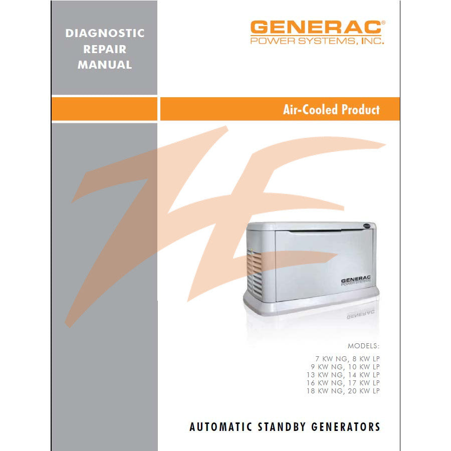 Generac 0G9266 Air Cooled Diagnostic Manual