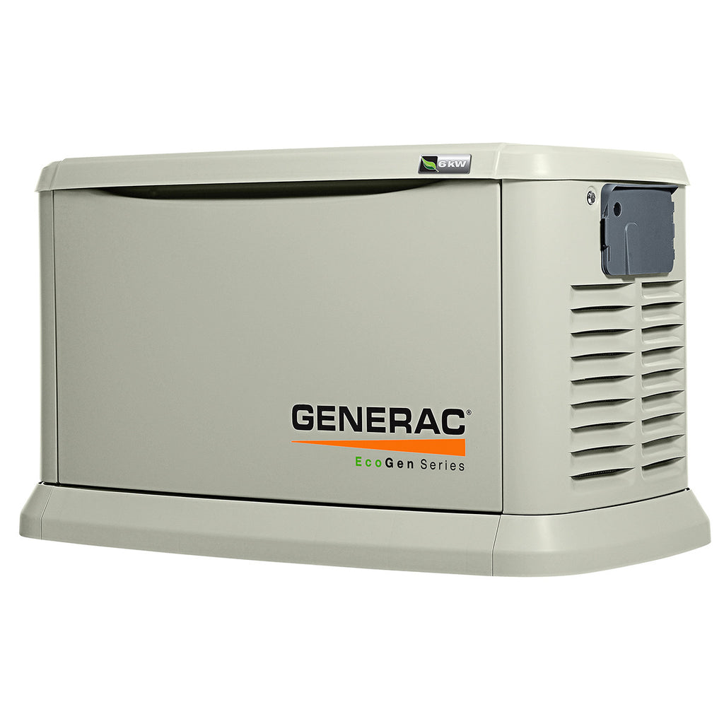 6103 Generac EcoGen 15kW Aluminum Air Cooled Standby Power Generator