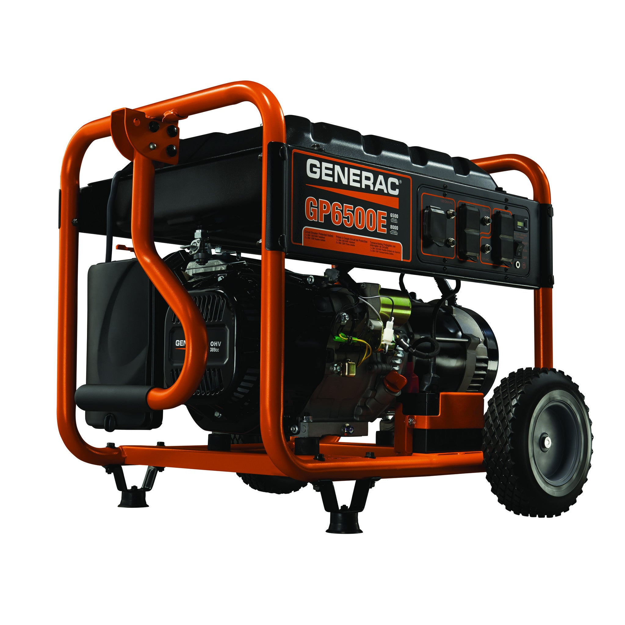 Generac 5941 GP6500E 6500 Watt Electric Start Portable Gasoline