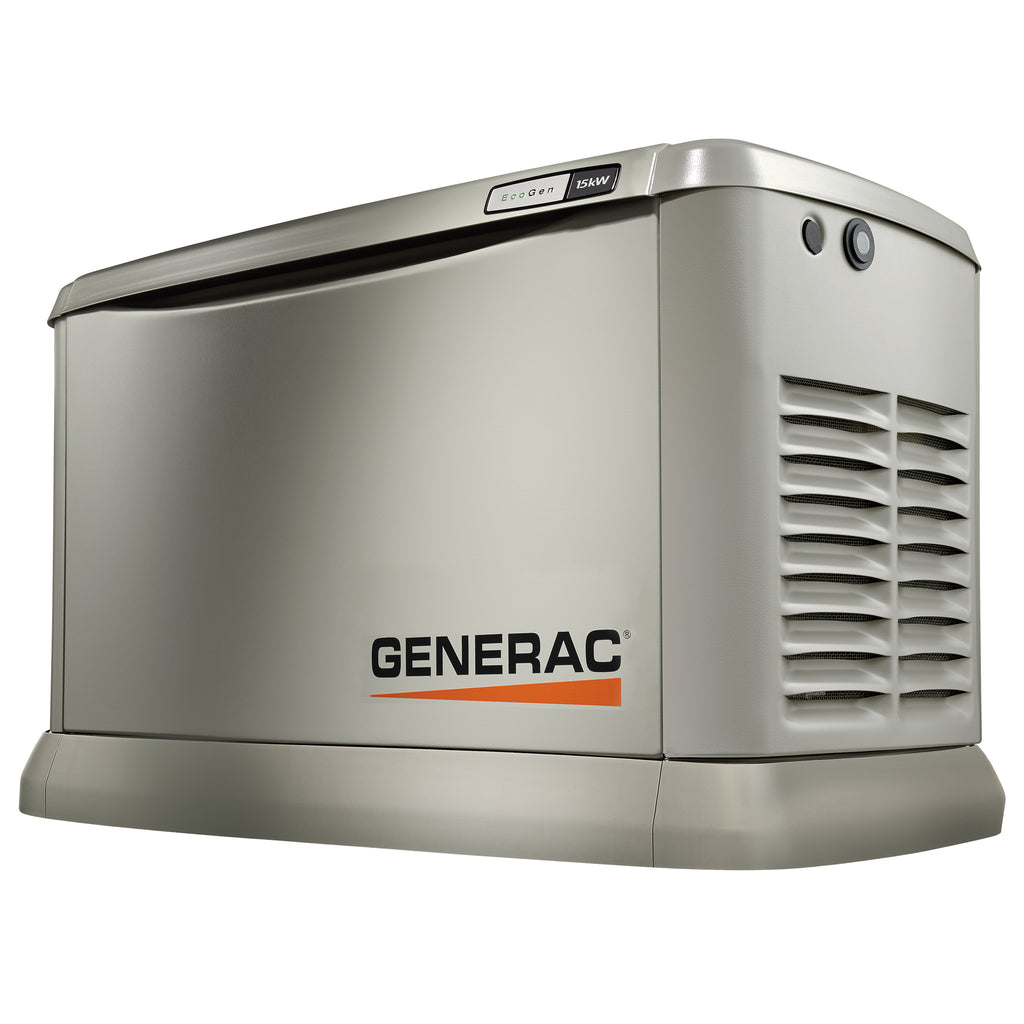 7034 Generac EcoGen 15kW Aluminum Air Cooled Standby Power Generator