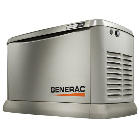 7163 Generac EcoGen 15kW Aluminum Air Cooled Standby Power Generator