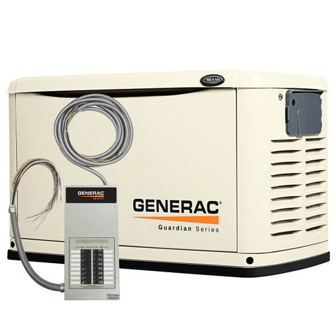 Generac 6461 16kW Steel Automatic Standby Generator with 16-Circuit Transfer Switch