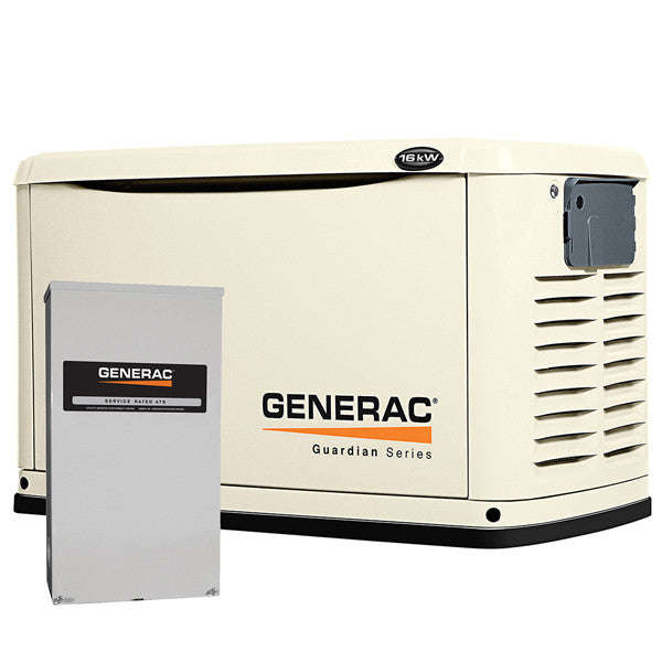 Generac 6462 16kW Steel Automatic Standby Generator with 200A Transfer Switch
