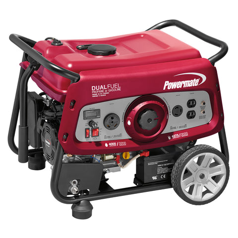 Powermate 6957 3500 Watt Electric Start Dual Fuel Generator