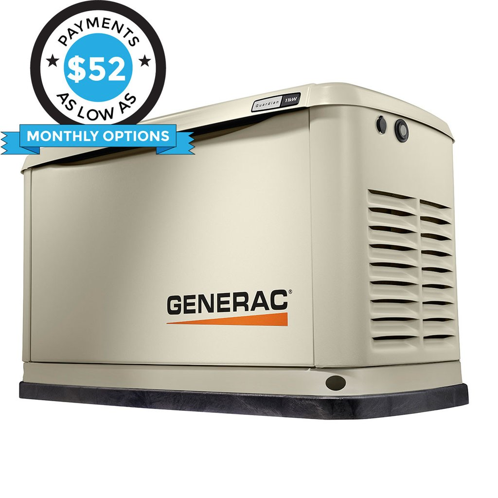 Generac Guardian 71730 13kW Aluminum Automatic Standby Generator with WiFi