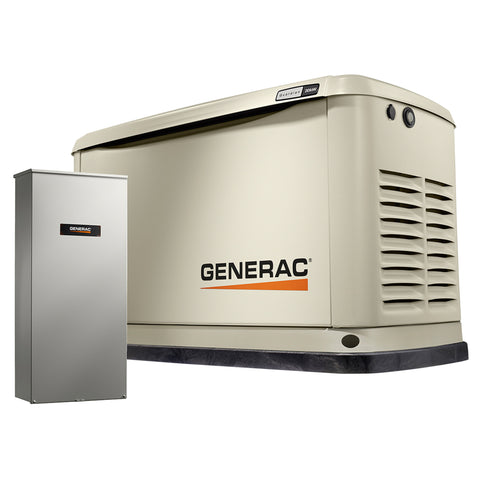 Generac Guardian 7039 20kW Aluminum Automatic Standby Generator with 200A SE Rated Transfer Switch