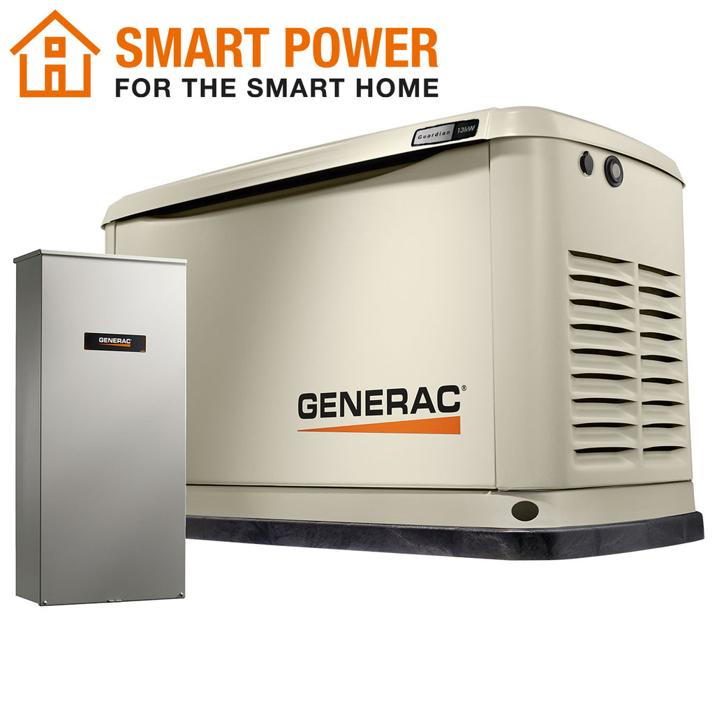 Generac Guardian 71750 13kW + 200A SE Transfer Switch Aluminum Automatic Standby Generator with WiFi