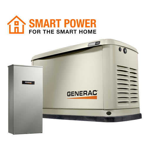Generac Guardian 7225 14kW + 200A SE Transfer Switch Aluminum Automatic Standby Generator with WiFi
