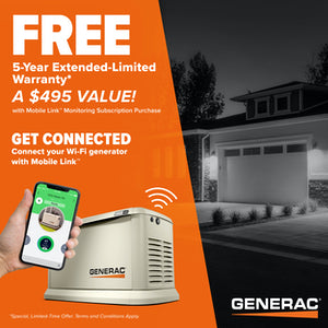Generac Guardian 7228 18kW + 200A SE Transfer Switch Aluminum Automatic Standby Generator with WiFi