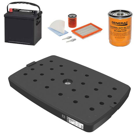 EZ Install Package with QwikPad For Generators Model #8230 Generac Light Weight Installation Pad