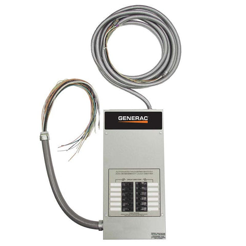 Generac RTG12EZA1 12 Circuit 100 Amp Load Center Automatic Transfer Switch