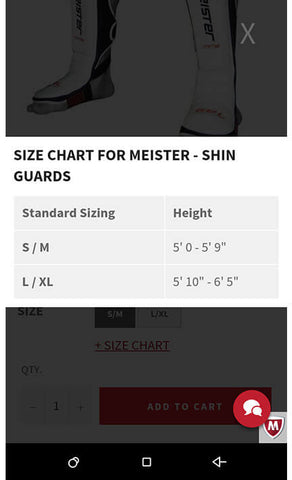 Mobile Size Chart Open