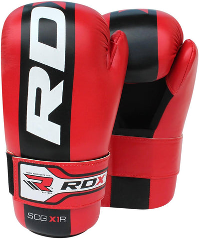 RDX Semi Contact MMA Gloves - Red