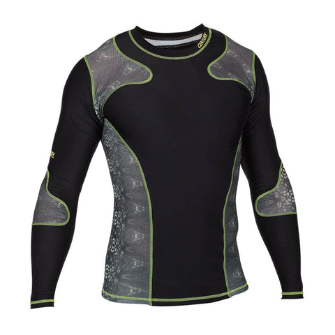 Century Long Sleeves Rashguard Black - Main