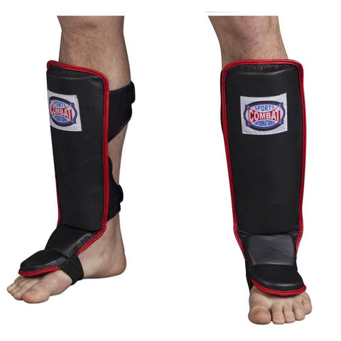 Combat Sports MMA Shin Guards - Hook & Loop - Angle 2