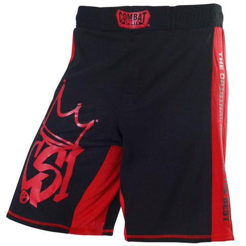 Combat Sports MMA Training Shorts - Red / Black - Main