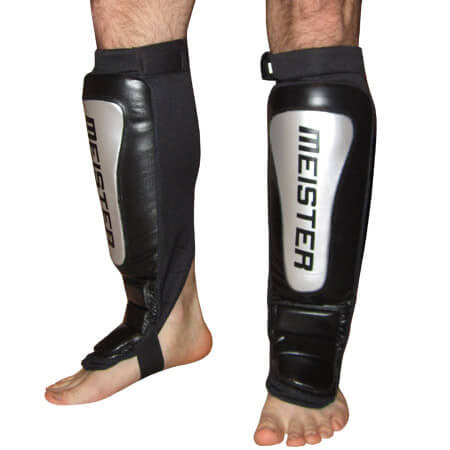 Meister Silver Series Leather Shin Guards - Main