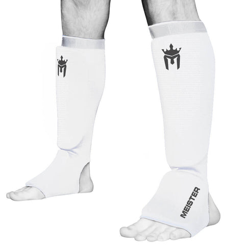 Meister Elastic Cloth Padded Shin Guards - Angle 2