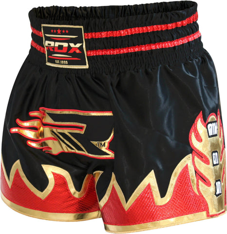 RDX Crimson Satin Muay Thai Shorts - Front