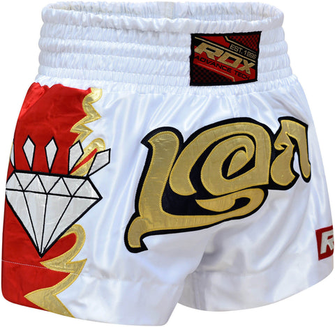 RDX Diamond Satin Muay Thai Shorts - Front
