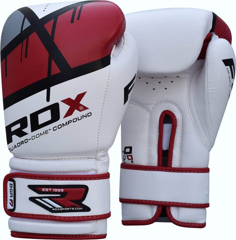 RDX Fitness Quadro-Dome Boxing Gloves - Red